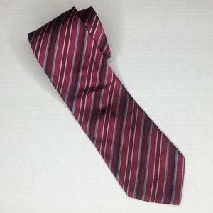 Armani | Silk striped red and blue tie
